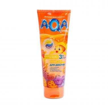 AQA baby Шампунь-гель для душа для девочек 250 мл с 3х лет