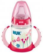 Nuk First Choice Бутылочка обучающая, 150 мл,  6-18 мес розовая