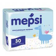 MEPSI Одноразовые впитывающие пеленки  60х60 30шт