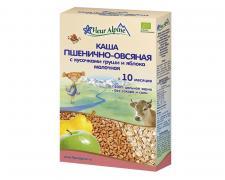 Флёр Альпин - каша молочная Органик пшенично-овсяная с кусочками груши и яблока, 10 мес, 200 гр.