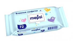 MEPSI Влажные салфетки детские 72 шт