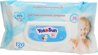 YokoSun Салфетки влажные детские , 120 шт